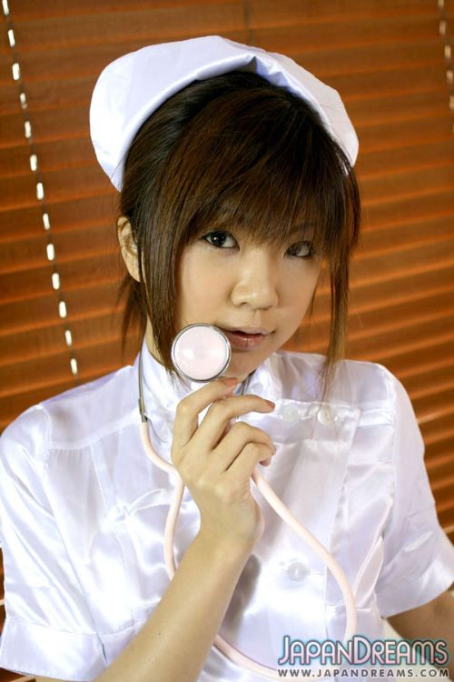 Sexy Japanese Nurse uniform handjob